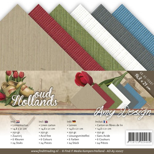 Linnenkarton Amy Design - Oud Hollands (A5)