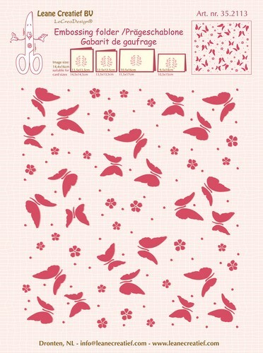 Embossing Folder Leane Creatief - Background Butterflies