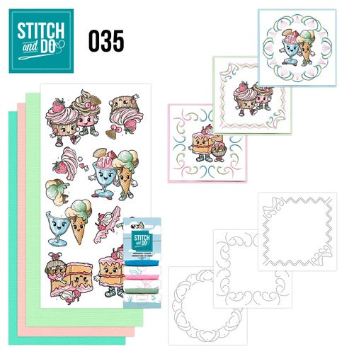 Stitch and Do Pakket - Cupcakes