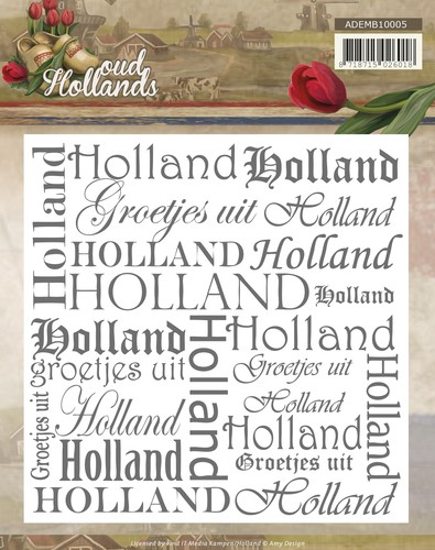Embossing Folder Amy Design - Oud Hollands