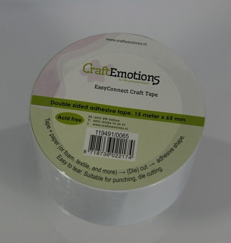 Craft Emotions Easy Connect Craft Tape - 65 mm