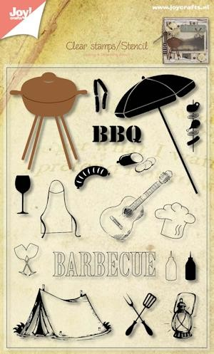 Joy Clearstamps/Stencil - BBQ