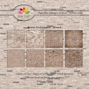 Dixi Craft Paper Pack - bricks background brown