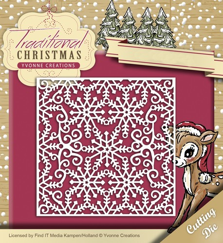 Yvonne Creations Stans - Traditional Christmas - Snowflake Frame