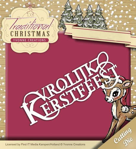 Yvonne Creations Stans - Traditional Christmas - Vrolijk Kerstfeest