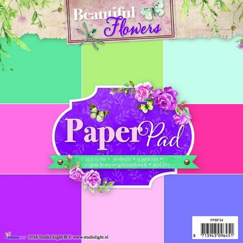 Studio Light Paper Pad - Beautiful Flowers PPSL34