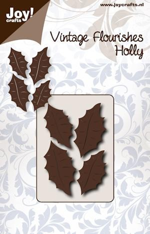 Joy Stencil - Vintage Flourishes - holly