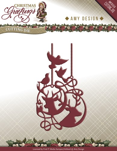 Amy Design Stans - Christmas Greetings - reindeer ornament