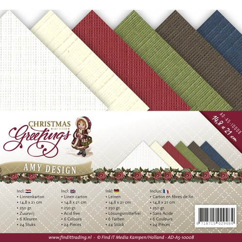 Linnenkarton Amy Design - Christmas Greetings (A5)