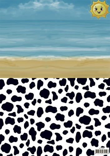 Yvonne Creations Background Sheet - Summer Holiday 2