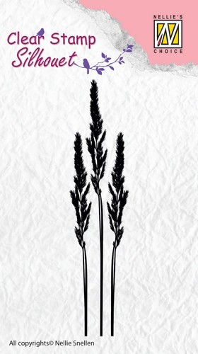 Clearstamp Nellie Snellen - Silhouet - Ears of Grass 1