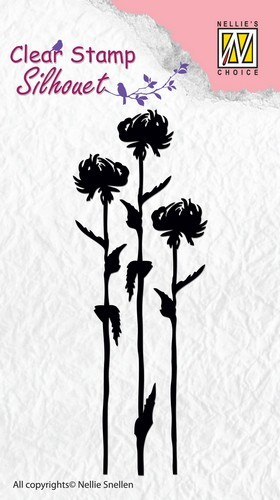 Clearstamp Nellie Snellen - Silhouet - Flower 7