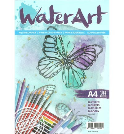 WaterArt Aquarelpapier - A4 formaat - 185 grams