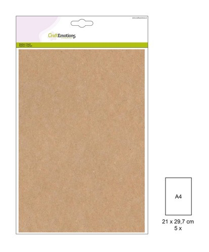 Craft Emotions Kraft Cardstock - A4 formaat - bruin