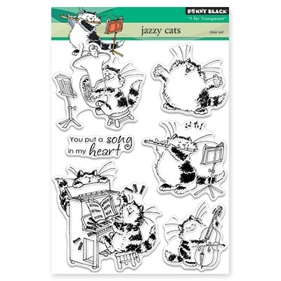 Penny Black Clearstamps - Jazzy Cats