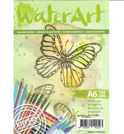 WaterArt Aquarelpapier - A6 formaat - 185 grams