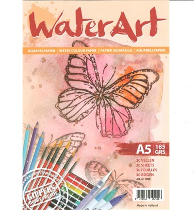 WaterArt Aquarelpapier - A5 formaat - 185 grams