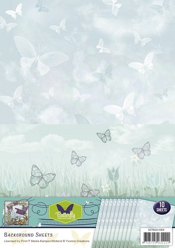 Yvonne Creations Background Sheet - Butterfly Collection 4