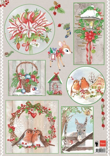 Knipvel Marianne Design - Country Christmas 1