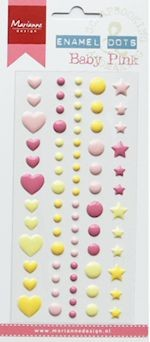 Marianne Design Decoration Enamel Dots - baby pink