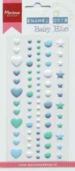 Marianne Design Decoration Enamel Dots - baby blue