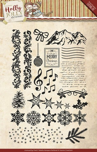 Yvonne Creations Clearstamps - Holly Jolly Christmas