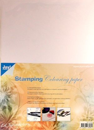 Joy Stamping Colouring Paper - A4