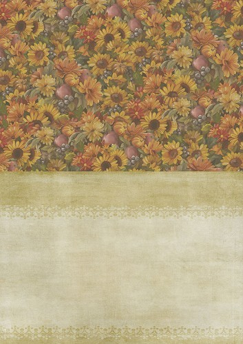 Background Sheet Amy Design - Autumn Moments - sunflowers