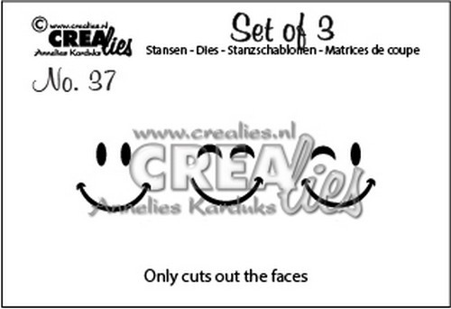Crealies Stans - Set of 3 - Smilies