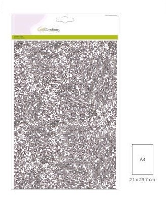 Craft Emotions Glitterpapier - zilver