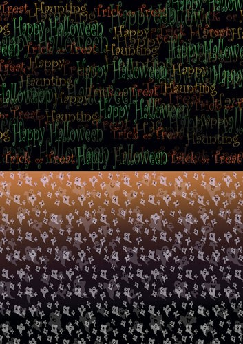 Yvonne Creations Background Sheet - Happy Halloween BGS10012