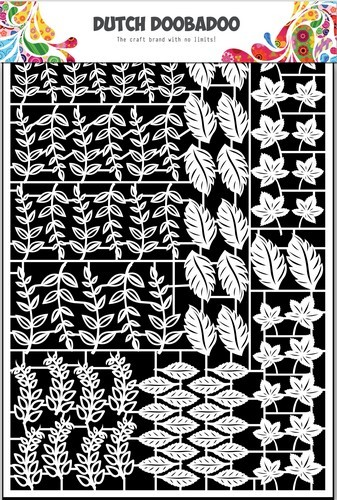 Dutch Doobadoo Stencil - Paper Art - leaves 2