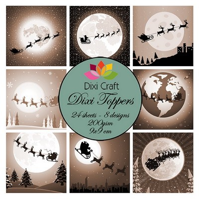 Dixi Craft Toppers - Christmas Sleigh Sepia