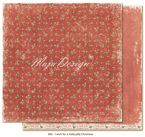 Scrappapier Maja Design - I Wish for a Holly Jolly Christmas