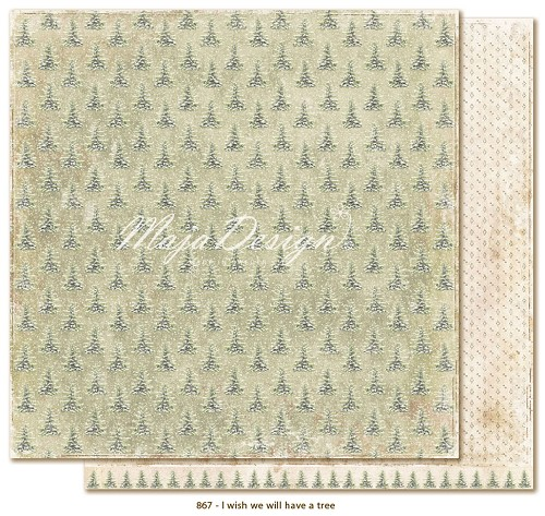 Scrappapier Maja Design - I Wish we will have a Christmas Tree