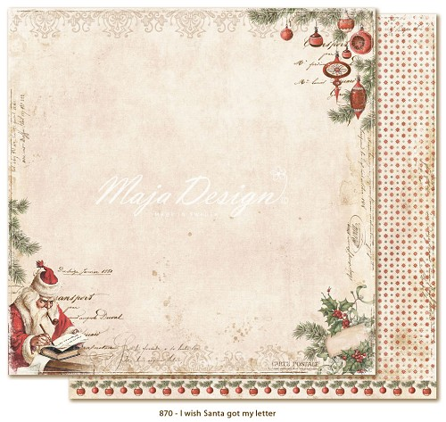 Scrappapier Maja Design - I Wish Santa got my Letter
