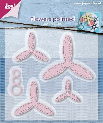 Joy Stencil - Flowers Pointed
