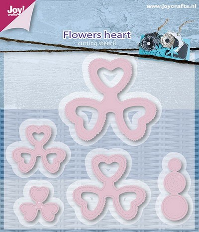 Joy Stencil - Flowers Heart