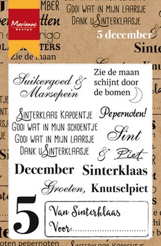Marianne Design Clearstamps - 5 december
