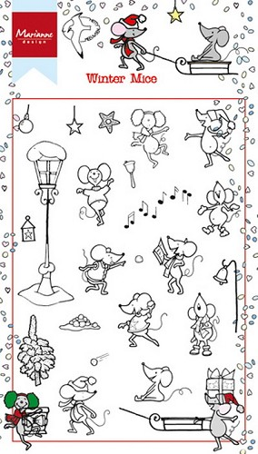 Marianne Design Clearstamps - Winter Mice