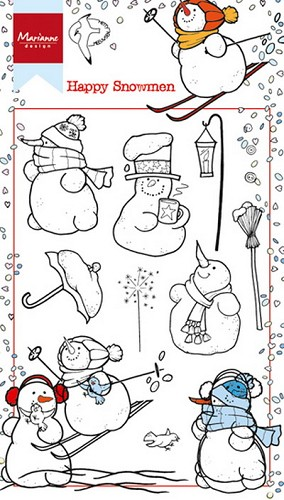 Marianne Design Clearstamps - Happy Snowmen