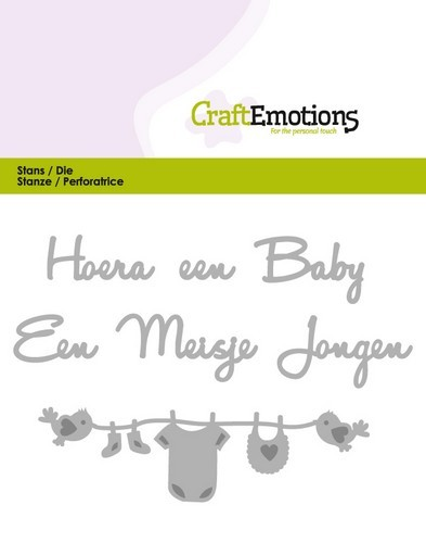 Craft Emotions Stans - Hoera een Baby