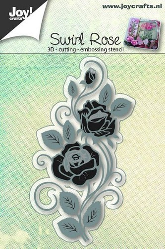 Joy Stencil - swirl rose