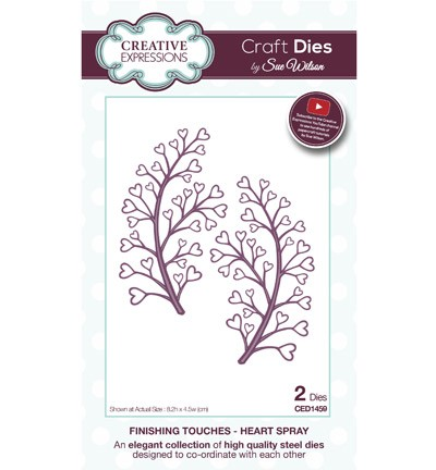 Creative Expressions Stans - The Finishing Touches Collection - Heart Spray