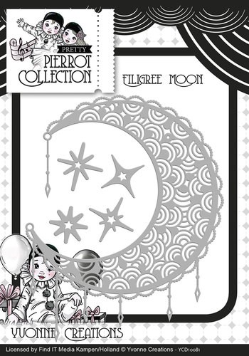 Yvonne Creations Stans - Pretty Pierrot - filigree moon
