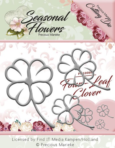 Precious Marieke Stans - Seasonal Flowers - four leaf clover