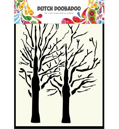 Dutch Doobadoo - Mask Art - trees A6