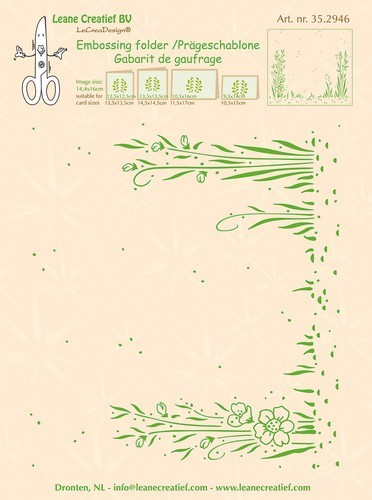 Embossing Folder Leane Creatief - Background Garden