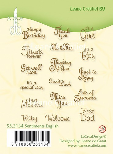 Clearstamps Leane Creatief - Sentiments English