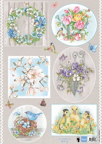 Knipvel Marianne Design - Country Flowers 1